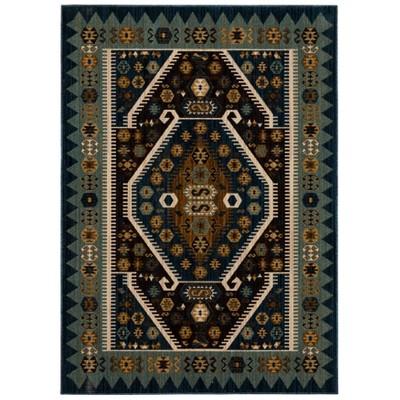 5'X7' Buttercup Diamond Vintage Persian Woven Rug Teal - Opalhouse™