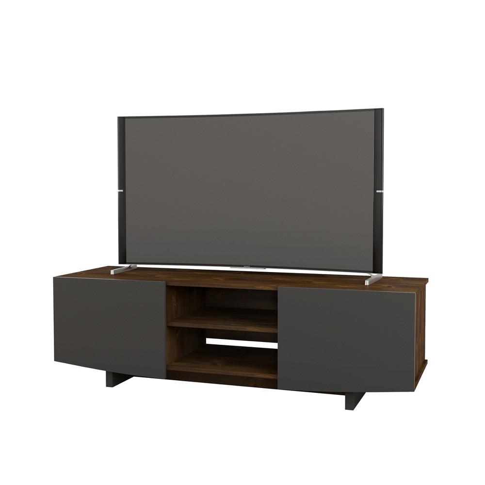 Helix 60 TV Stand Truffle & Charcoal Gray - Nexera, Truffle & Charcoal Grey