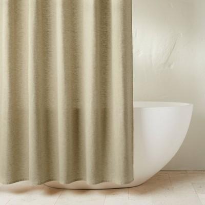 Chambray Shower Curtain Moss Green - Casaluna™