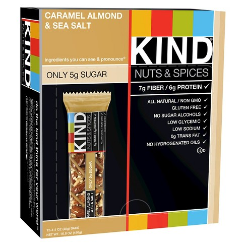 KIND® Caramel Almond & Sea Salt Bars - 12ct - image 1 of 2