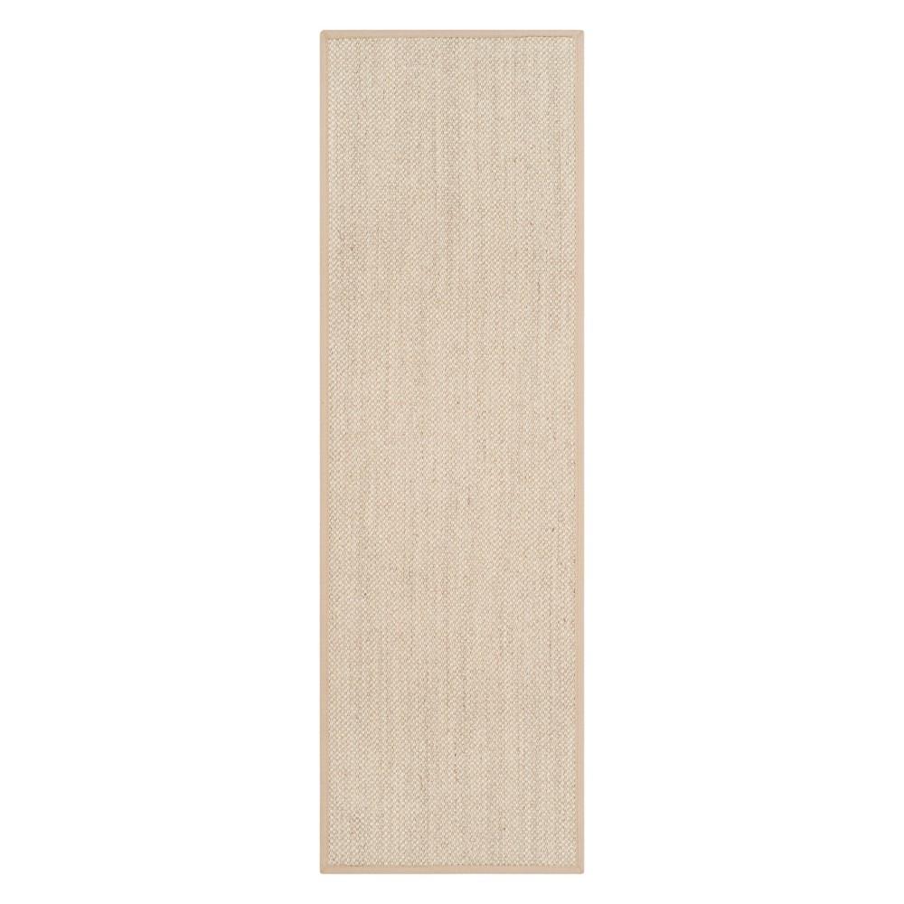 2'6X22' Solid Loomed Runner Marble/Linen - Safavieh