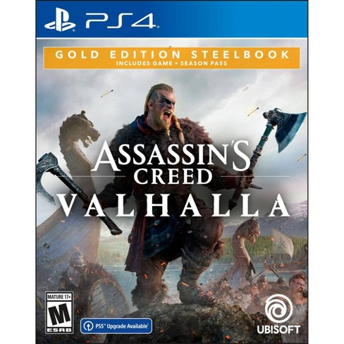 Assassin S Creed Valhalla Gold Edition Steelbook Playstation 4 Target