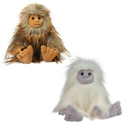 Douglas Sasquatch and Yeti Plush Set - Flo and Jurgen