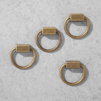 Loop Knob Brass 4pk - Hearth & Hand™ with Magnolia