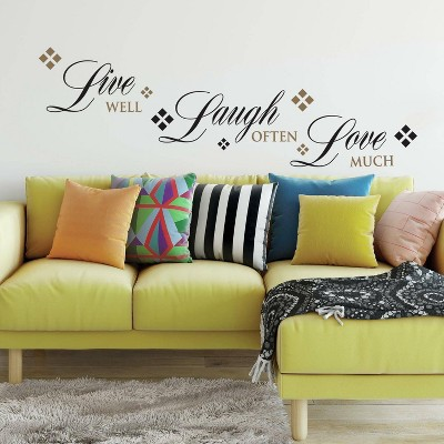 Live Love Laugh Peel and Stick Wall Decal - RoomMates