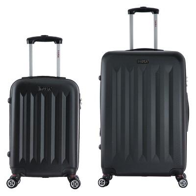 InUSA Philadelphia 2pc Hardside Spinner Luggage Set 19 & 27  - Black