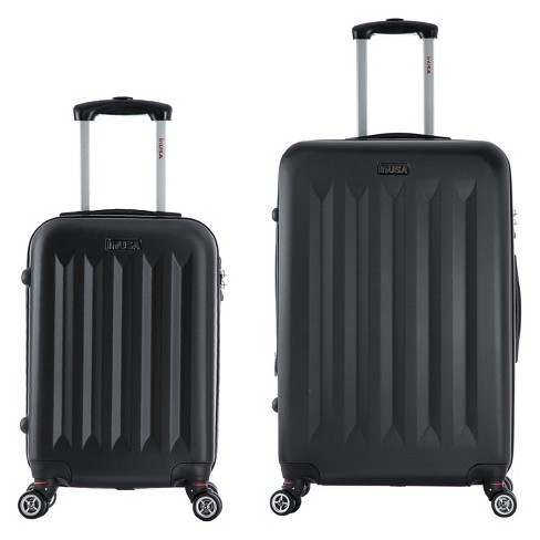 InUSA Philadelphia 2pc Hardside Spinner Luggage Set - Black - image 1 of 4