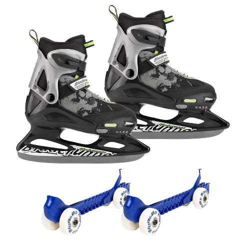 Rollerblade Bladerunner Micro Ice Skates, Small, and Skate Guard Rollers (Pair) - image 1 of 4
