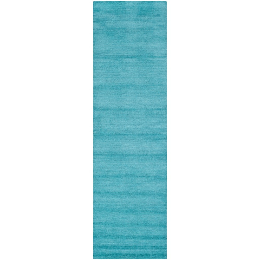 2'3X12' Tufted Solid Runner Rug Turquoise - Safavieh