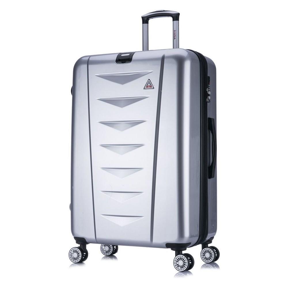 InUSA AirWorld 28 Hardside Spinner Suitcase - Silver, Light Silver