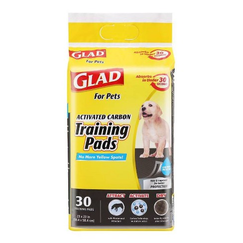 Glad Activated Carbon Training Pads for Puppies and Senior Dogs - 30ct - image 1 of 4