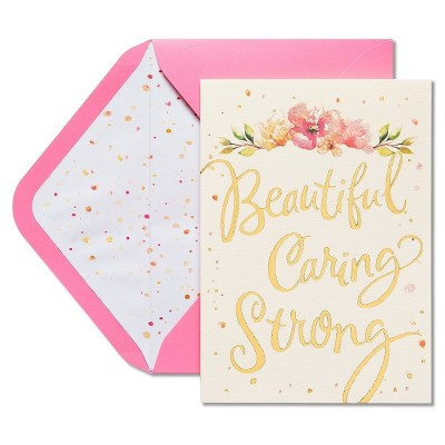 Papyrus Beautiful Loving Strong Mothers Day Card With Glitter