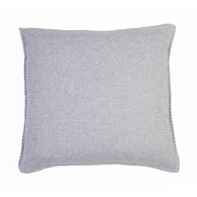 Set of 2 Chunky Oversize Square Throw Pillow Silver - Décor Therapy
