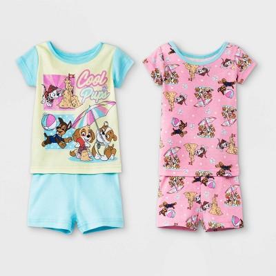 Baby Girls' 4pc PAW Patrol Snug Fit Pajama Set - Blue