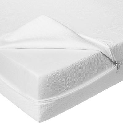 Bundle of Dreams Hypoallergenic Antibacterial Organic Baby Crib Mattress Water Repellent Zipper Cover, 6-Inch