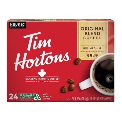 Tim Hortons Original Blend Medium Roast Coffee - Keurig K-Cup Pods - 24ct