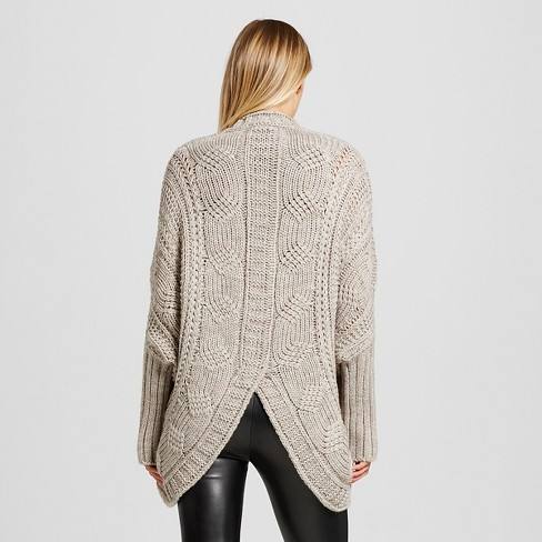 Womens 34 Sleeve Cocoon Cardigan Sweater Clich233 Gray Target