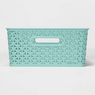 Y Weave Medium Rectangle Storage Bin Green - Room Essentials™