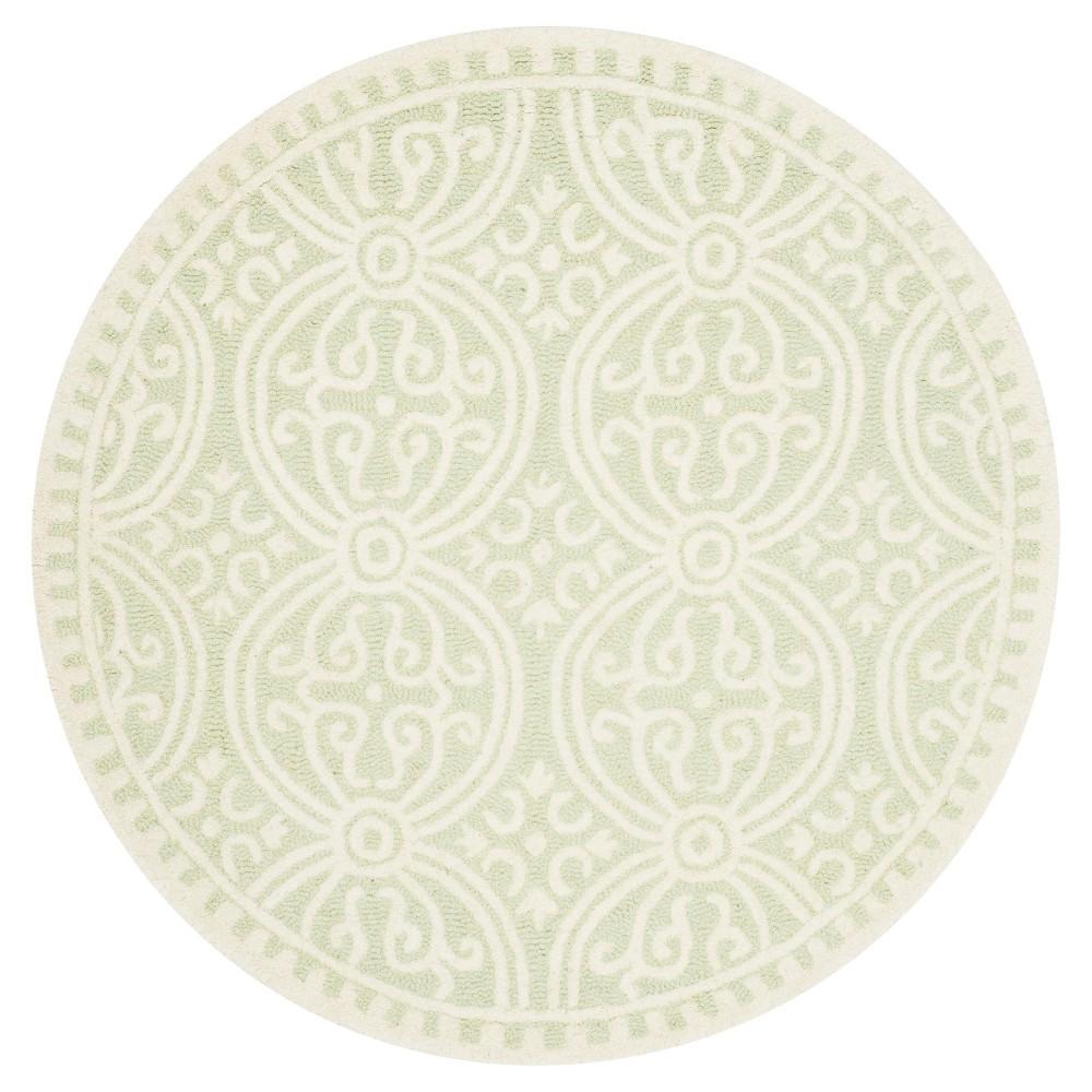 6' Geometric Area Rug Light Green/Ivory - Safavieh