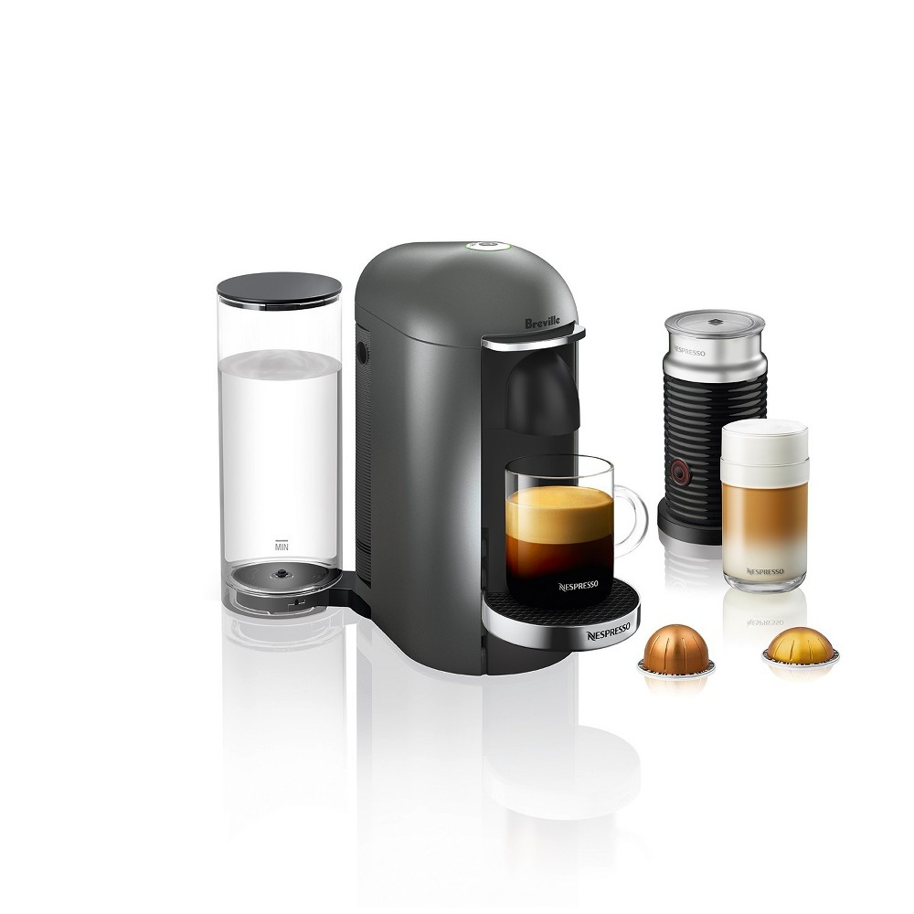 Nespresso VertuoPlus Titan Deluxe Bundle by Breville, Dark Silver 53030337