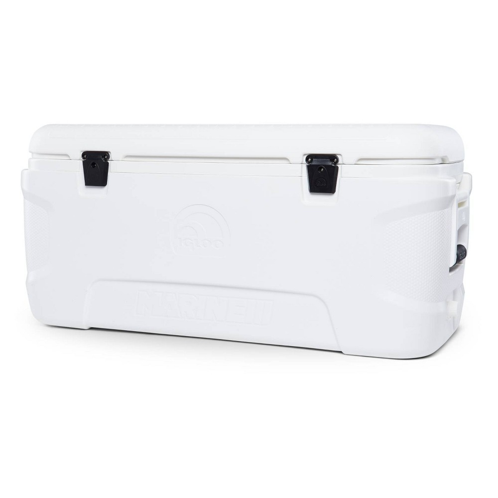 Top Igloo Marine Contour Hard Sided Portable  Cooler - White