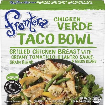 Frontera Frozen Chicken Verde Taco Bowl - 11.2oz