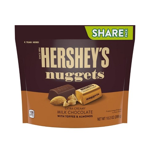 Hershey's Nuggets Toffee Almond Share Size Chocolates - 10.2oz - image 1 of 4