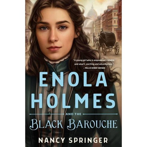 Enola Holmes and the Black Barouche - by  Nancy Springer (Hardcover) - image 1 of 1