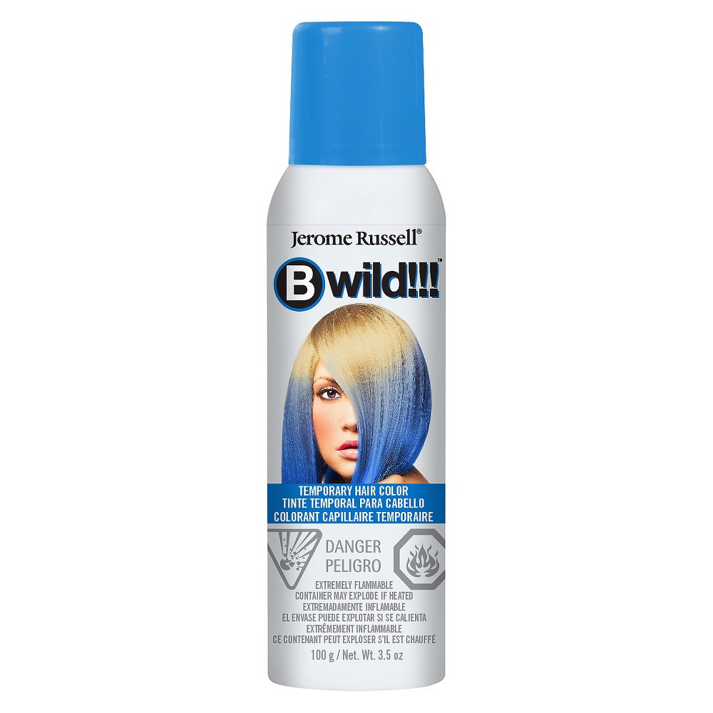 Image of Jerome Russell Bwild Temporary Hair Color Spray Blue - 3.5oz