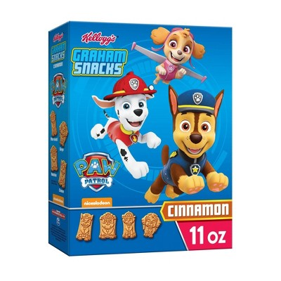 Kellog PAW Patrol Cinnamon Graham Snacks - 11oz
