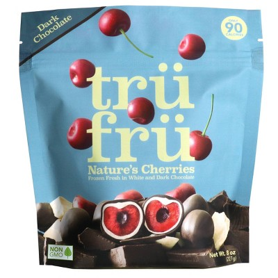 Tru Fru White & Dark Chocolate Frozen Whole Cherries   - 8oz