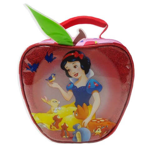 Disney Snow White & the Seven Dwarfs Apple Shaped Kids' Lunch Bag - Red - image 1 of 4