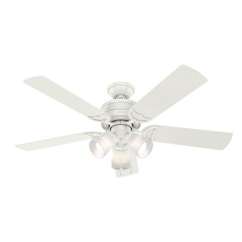 """52"""" Prim Fresh LED Lighted Ceiling Fan Fresh White - Hunter Fan - image 1 of 12"""