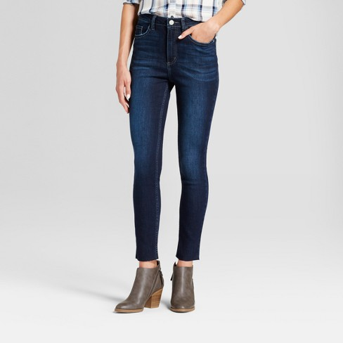 c4b738f3 Women's Modern Fit High Rise Raw Hem Skinny Jeans - Crafted By Lee ...