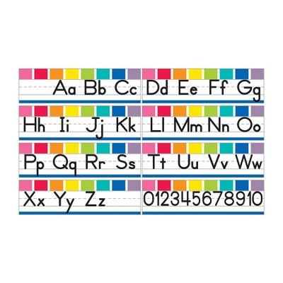 8pk Hello Sunshine Alphabet Line Manuscript Mini Bulletin Board Set - Schoolgirl Style