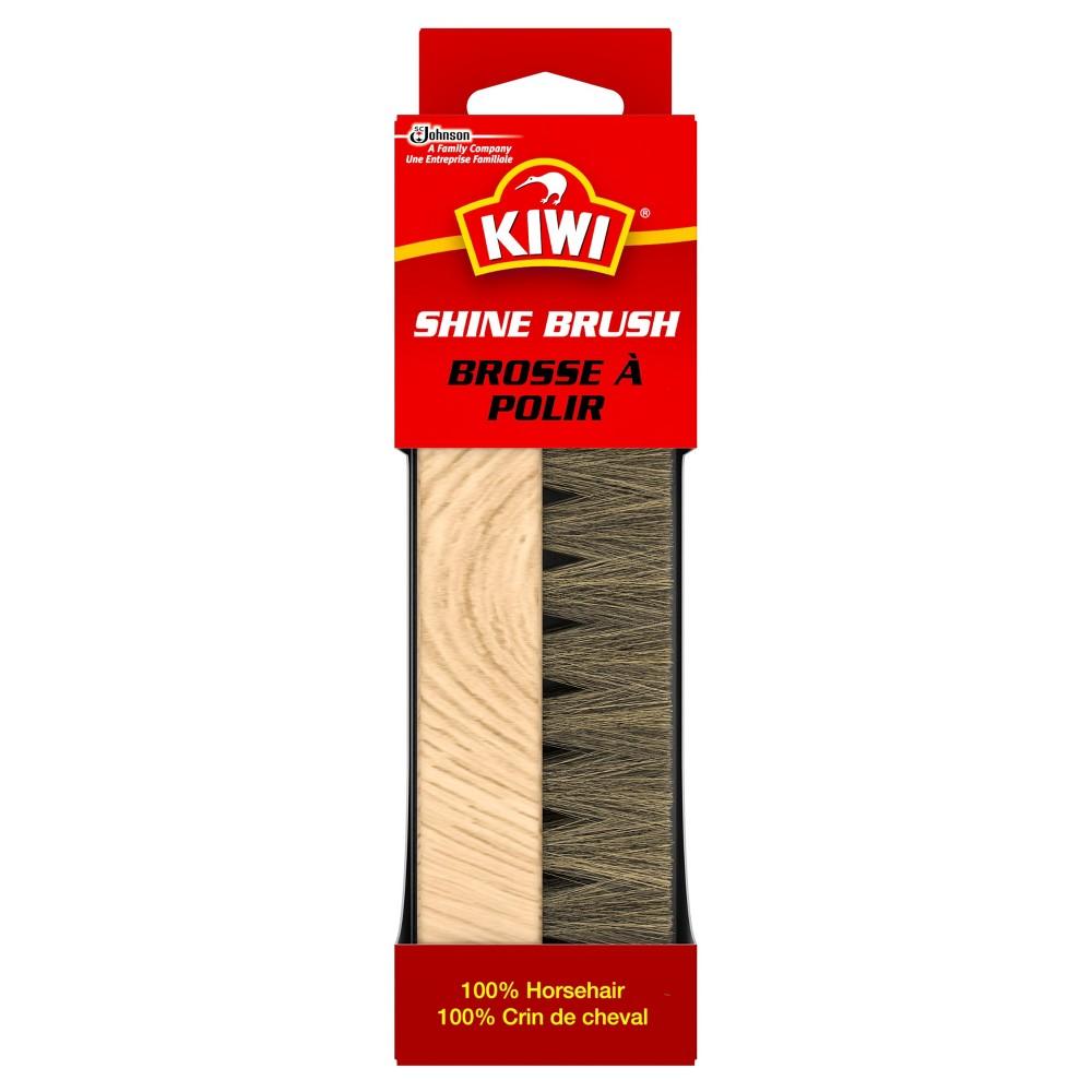 Kiwi Horsehair Shine Brush 1ct, White