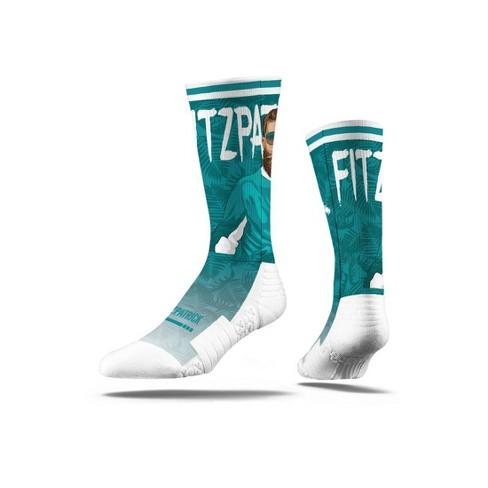 NFL Miami Dolphins Ryan Fitzpatrick Fitzmagic Strideline Premium Player Socks - image 1 of 1