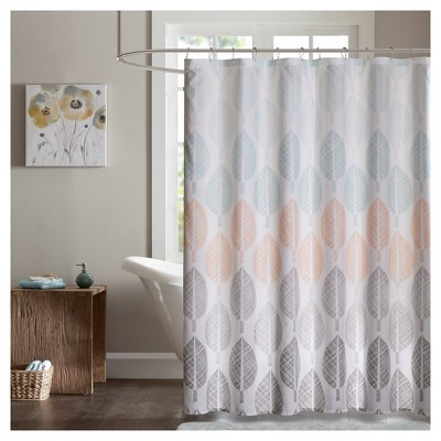 Prospect Park Printed Shower Curtain - Coral/Green