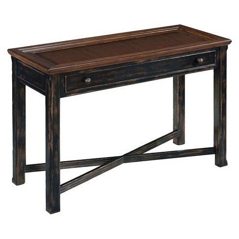 Clanton Wood Rectangular Sofa Table - Antique Black with Natural Brown Rub-through - Magnussen Home - image 1 of 1