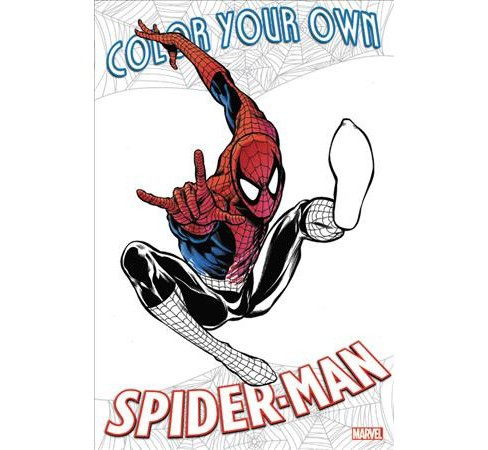 Color Your Own Spider-Man (Paperback) - image 1 of 1