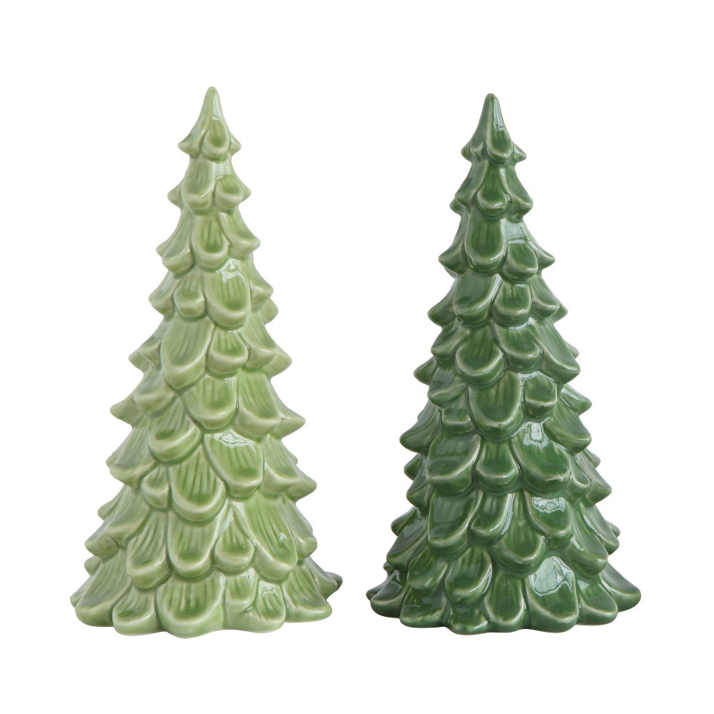 "Image of ""8"""" Stoneware Tree Decorative Figurine - 3R Studios, Green"""