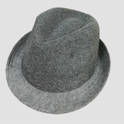 Toddler Boys' Chambray Fedora - Cat & Jack™ Gray 2T-5T