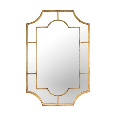 Metal Wall Mirror Gold - 3R Studios