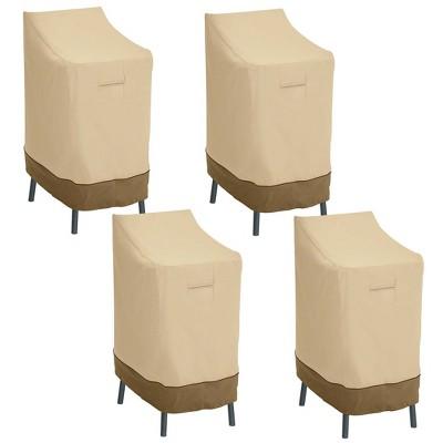 4pk Veranda Patio Bar Chair/Stool Cover - Classic Accessories