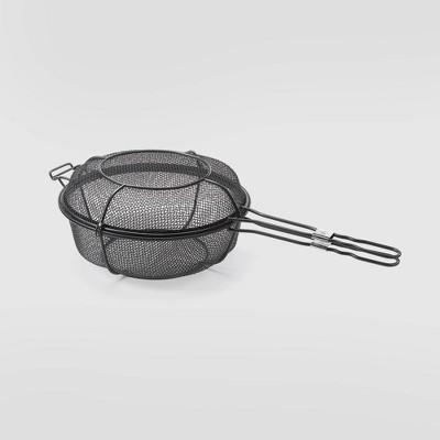 Dual Skillet Shaker Grill Basket Black - Outset