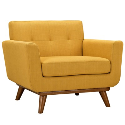 Set of 3 Engage Armchairs and Loveseat Citrus - Modway