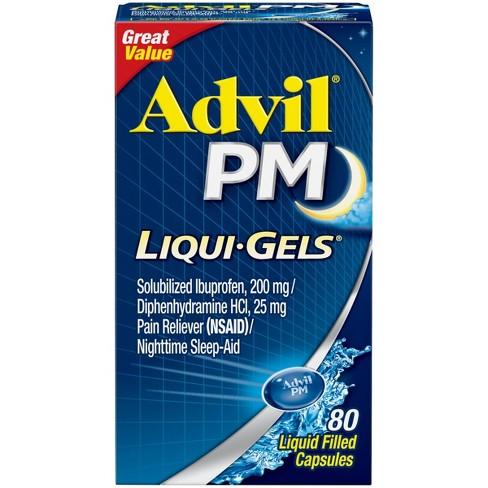 Advil PM Liqui-Gels Pain Reliever/Nighttime Sleep Aid Liquid Filled Capsules - Ibuprofen (NSAID) - image 1 of 3