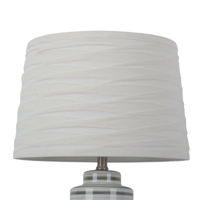 Linen Overlay Lamp Shade Cream Large - Threshold™