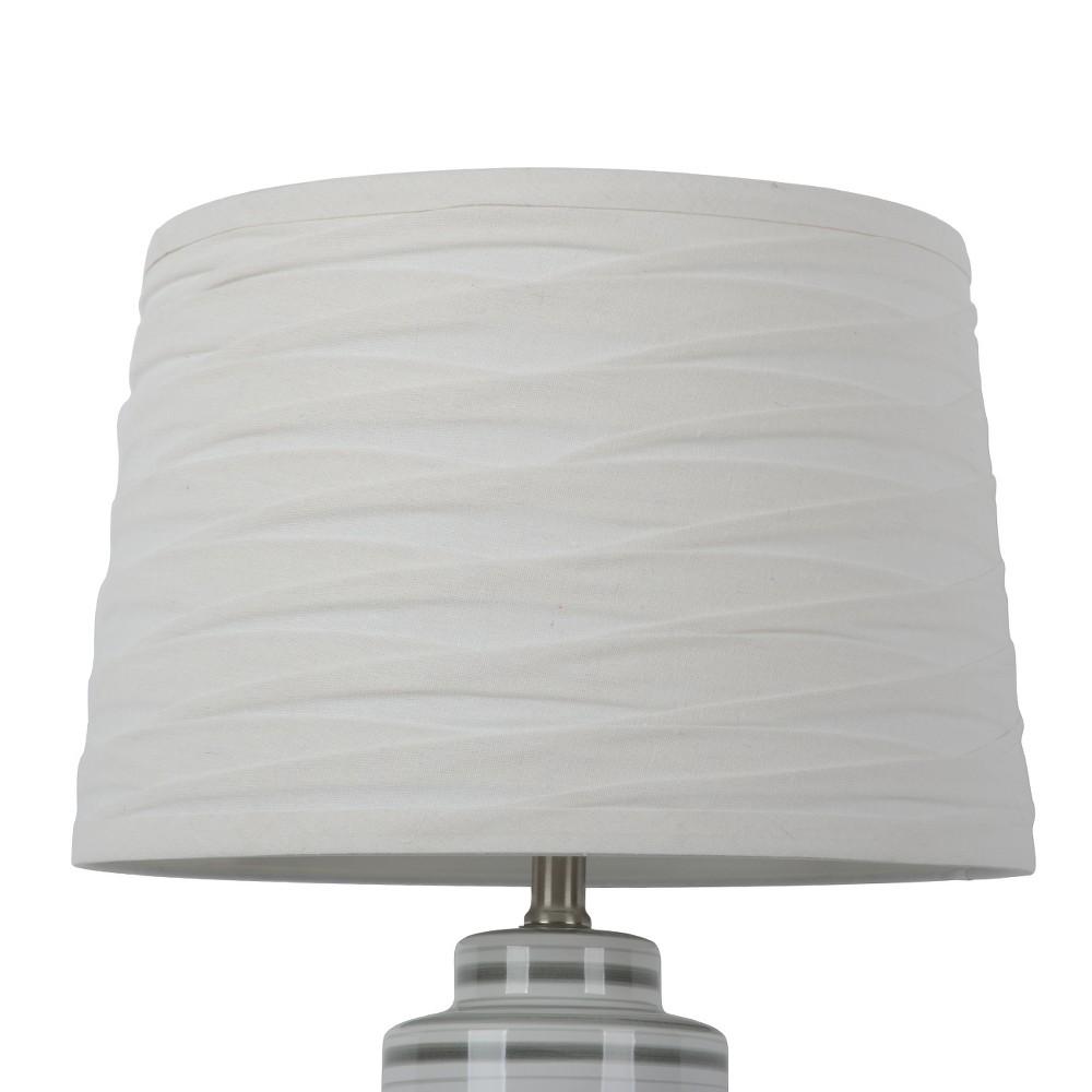 Image of Large Linen Overlay Lamp Shade White - Threshold