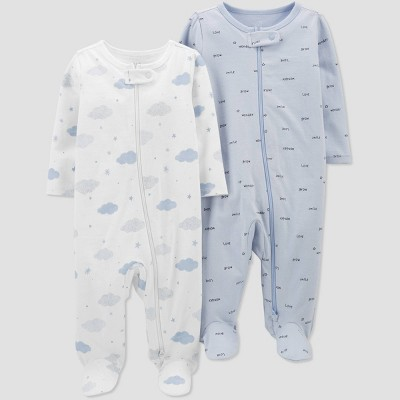 Baby Boys' 2pk Sleep N' Play - Just One You® made by carter's Blue